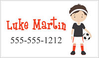 Calling Cards - Boy Soccer Player