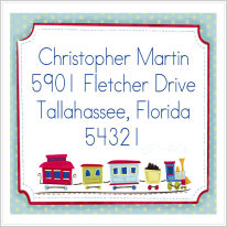 Address Labels - Train (Square)
