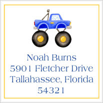 Address Labels - Truck (Square)