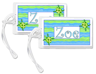 Bag Tags - Beach Theme/Turtles