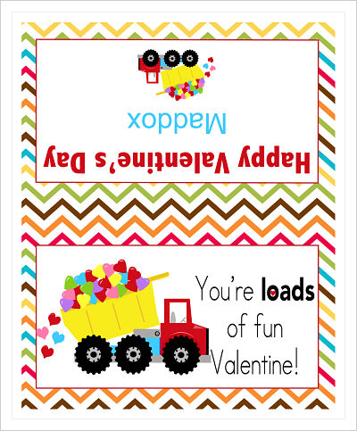 Valentine Bag Toppers (VBT) - You're Loads Of Fun Valentine