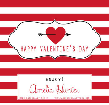 Valentine's Candy Bar Wrappers (VCB) - Heart and Arrow