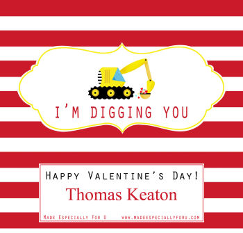 Valentine's Candy Bar Wrappers (VCB) - Excavator (I'm Digging You)