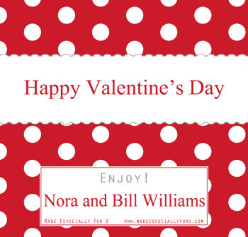 Valentine's Candy Bar Wrappers (VCB) - Polka Dots