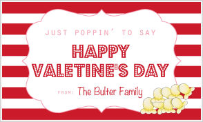 Valentine's Popcorn Sleeves (VPCS)- Just Poppin' By To Say