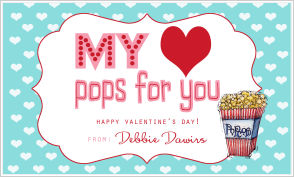 Valentine's Popcorn Sleeves (VPCS)- My Heart Pops For You