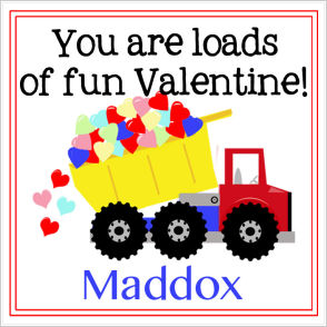 Valentine Tags and Stickers (VTS) - You Are Loads Of Fun Valentine!