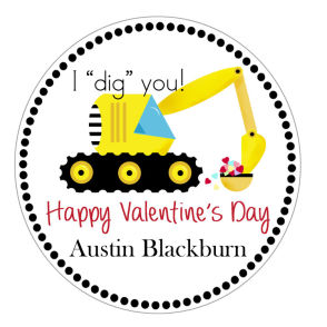 "Valentine Tags and Stickers (VTS) - I ""dig"" you!"