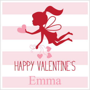 Valentine Tags and Stickers (VTS) - Fairy Giving Out Hearts