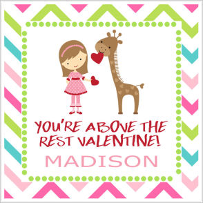 Valentine Tags and Stickers (VTS) - You're Above The Rest Valentine!
