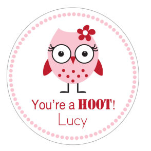 Valentine Tags and Stickers (VTS) - You're A Hoot!