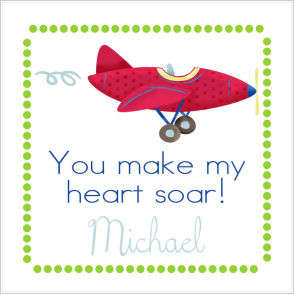 Valentine Tags and Stickers (VTS) - You Make My Heart Soar! (Plane)