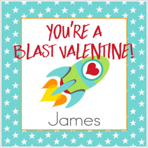 Valentine Tags and Stickers (VTS) - You're A Blast Valentine!