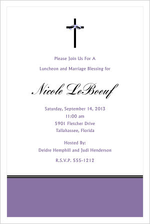Wedding - Cross/Bridesmaids Luncheon Invitations