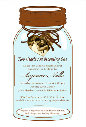 Wedding - Mason Jar (Bridal Shower Invitation)