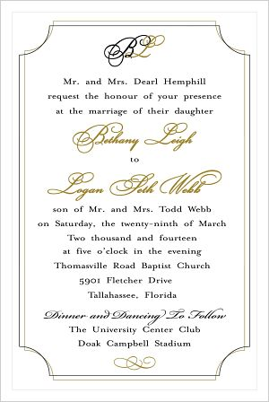 Wedding - Couples Initials/Wedding Invitation