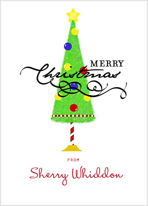 Christmas Wine Wraps (WW) Merry Christmas (Whimscial Christmas Tree)