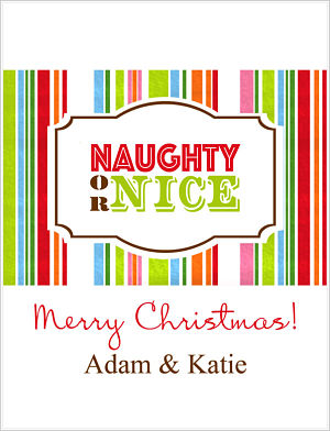 Christmas Wine Wraps (WW) Naughty Or Nice