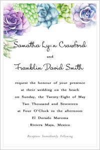 Wedding - Beautiful Succulents (Wedding Invitations)