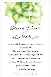 Wedding -Succulents (Wedding Invitations)