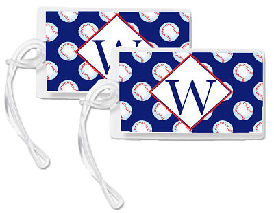 Bag Tags - Sports Theme-Baseball