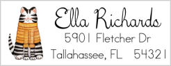 Address Labels - Whimsical Kity Kat
